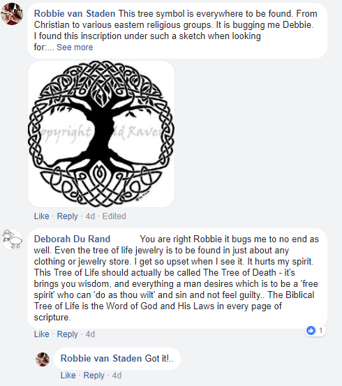 Tree of Life Facebook comment 1