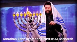 Jonathan Cahn lights UNIVERSAL Menorah