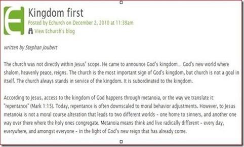 Kingdom First