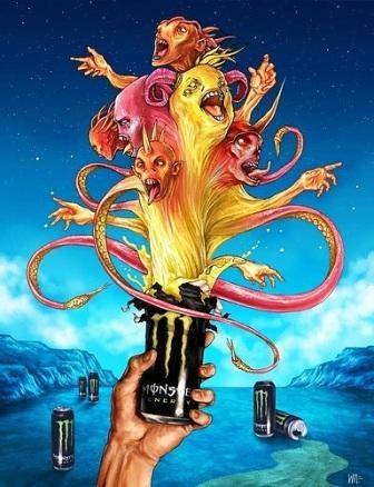 MonsterEnergy 5 Monster Energy Drink   Unleash the Beast 666